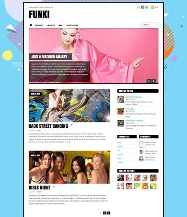 Funki Portfolio Template by Themify