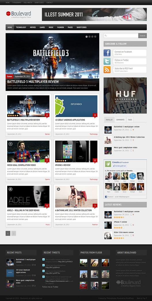 Magazine Review Template - Boulevard