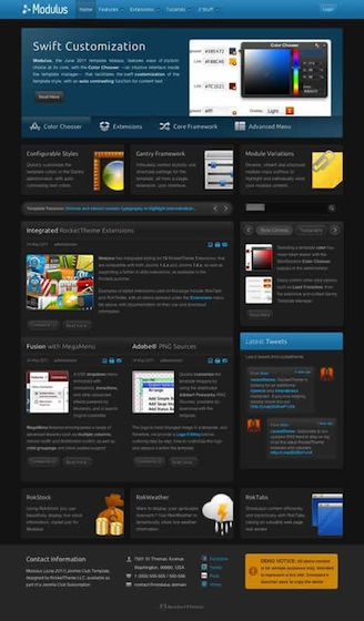 Joomla 2.5 Business Template - Modulus