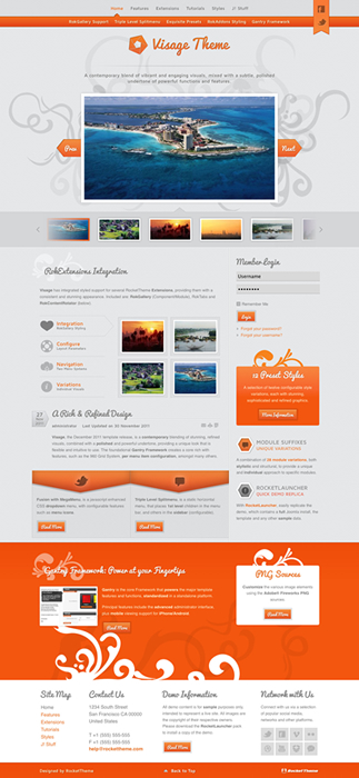 Joomla 2.5 Photography Template - Visage