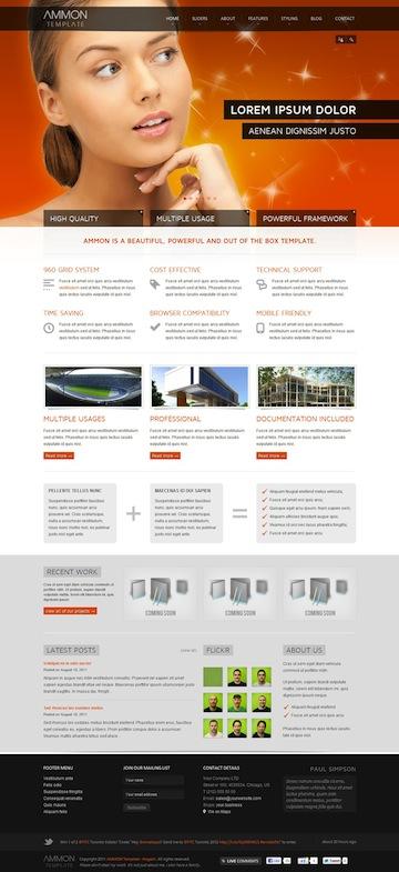 Joomla 2.5 Corporate Template - Ammon
