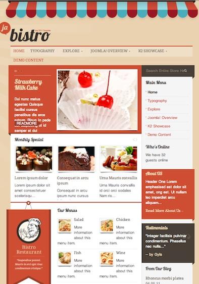 Joomla 2.5 Restaurant Template - Bistro