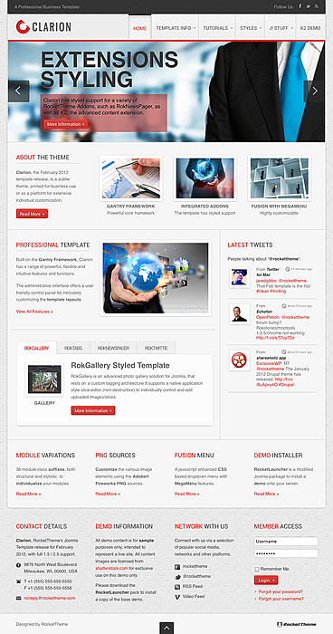 Joomla 2.5 Business Template - Clarion