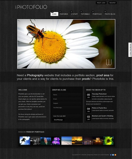 Joomla 2.5 Photography Template - Photofolio