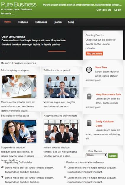 Joomla 2.5 Template - Pure Business