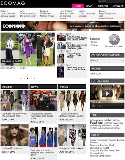 Wordpress Magazine Theme - EcoMag