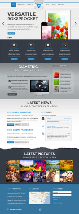 Joomla 2.5 Business Template - Diametric