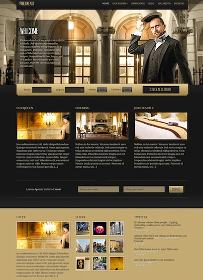 Wordpress Theme - Hotel Online Reservation Theme