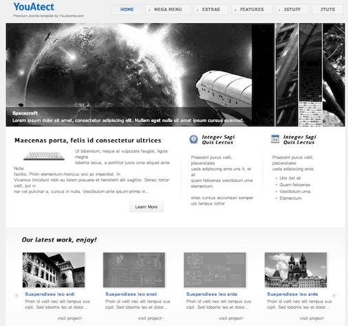 Joomla 2.5 Portfolio Template - YouAtect