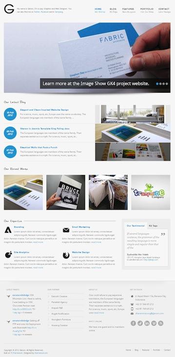 Joomla 2.5 Portfolio Template Glenon