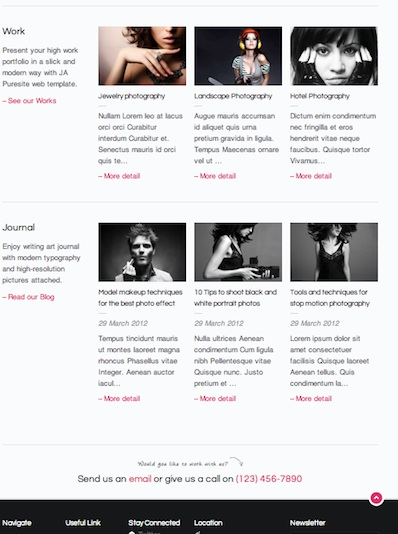Joomla 2.5 Business Portfolio Template - Puresite