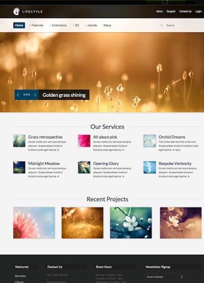 Joomla 2.5 photography portfolio business Template - Lifestyle