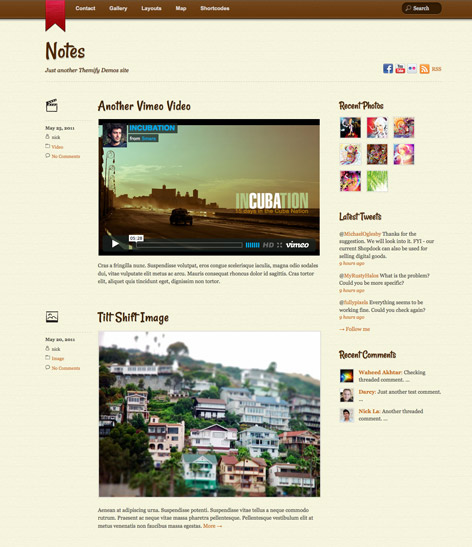 Responsive WordPress Theme - Tumblr Clone - Notes
