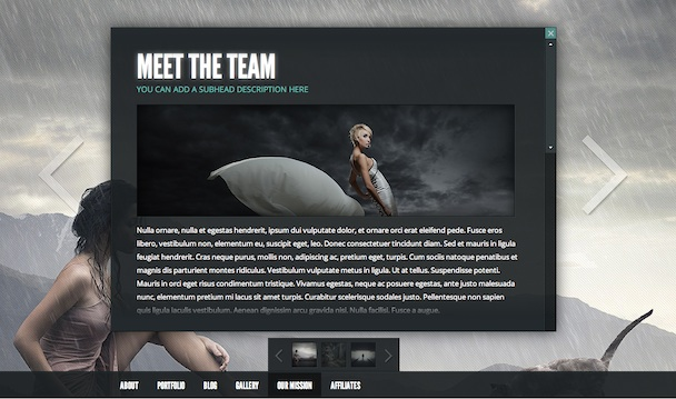 Wordpress Photography Theme - Gleam Contact Us Page