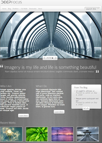 Wordpress Photography Theme - DeepFocus