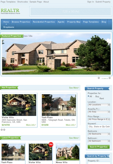 Real Estate Theme - Realtr