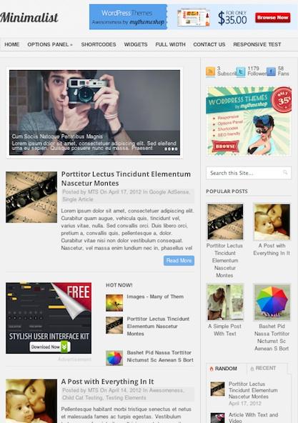Minimalistic Magazine WordPress Theme