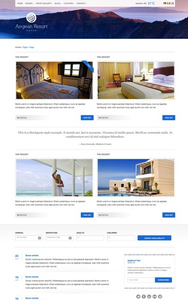 Click here to demo Hotel Template - Aegean Resort