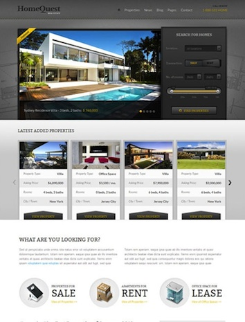 Home Quest Real Estate Template
