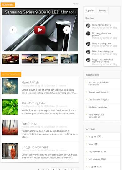 Responsive Magazine Template WordPress Theme - Lucid