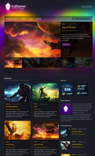 IndiGamer WordPress Review Template