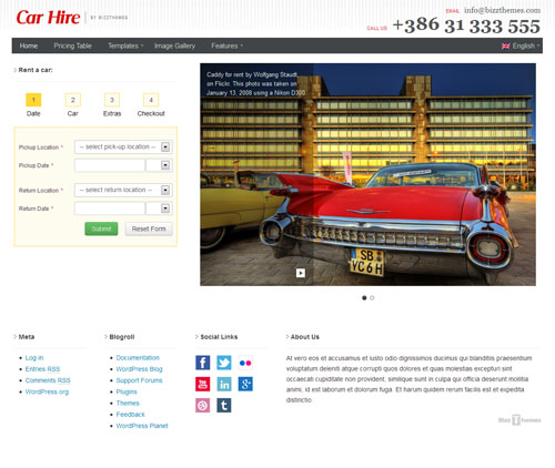 Car Hire Car Rental Agency WordPress Theme