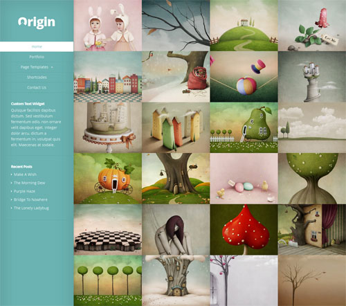 Responsive Portfolio Template with Infinite Scrolling - Origin