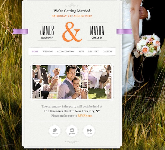 Responsive Wedding Theme - Just Married