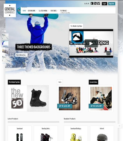 Responsive Joomla 2.5/Joomla 3.0 Ecommerce Template - General Commerce