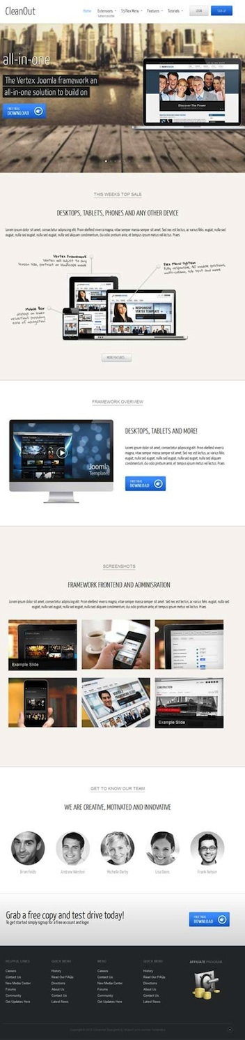 Business Joomla 3.0 Template - Cleanout