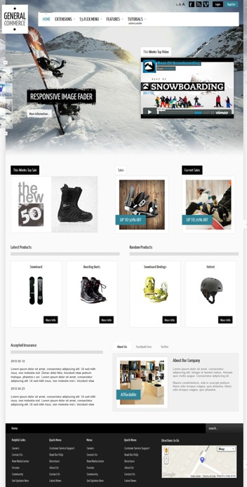 Joomla 3.0 Template Online Store - General Commerce